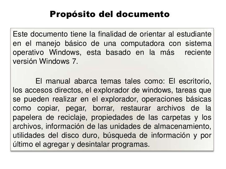 Operaciones b sicas sistema operativo windows 7 for Manual operaciones basicas de cocina