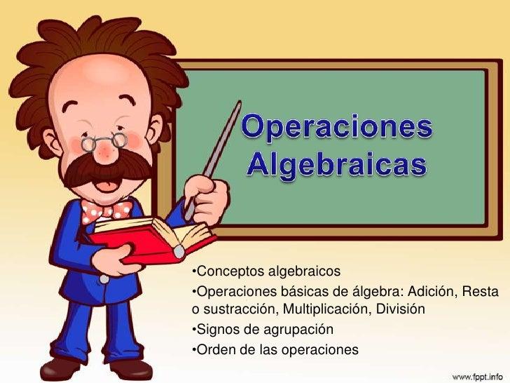 OperacionesAlgebraicas<br /><ul><li>Conceptos algebraicos