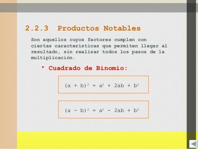 PRODUCTOS NOTABLES  II NIVEL PRE  Slide 2