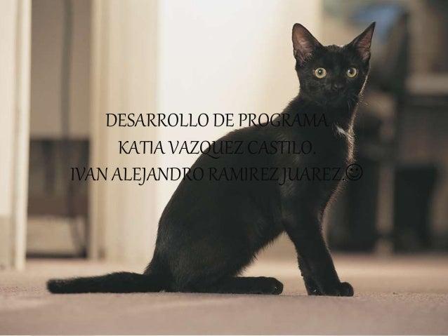 DESARROLLO DE PROGRAMA KATIA VAZQUEZ CASTILO. IVAN ALEJANDRO RAMIREZ JUAREZ.