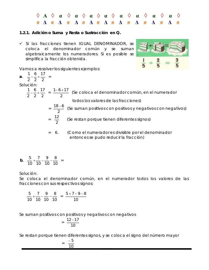 ◊ Α ◊ α ◊ α ◊ α ◊ α ◊ α ◊ α ◊ α ◊ α ◊        π Δ π Δ π Δ π Δ π Δ π Δ π Δ π Δ π Δ π1.2.1. Adición o Suma y Resta o Sustracc...