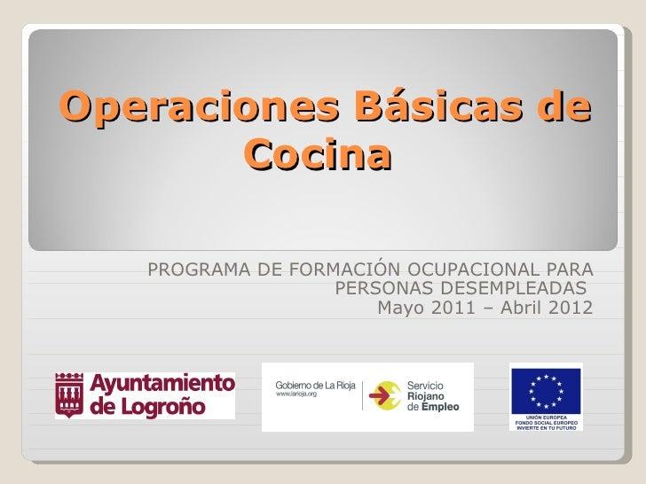 operaciones b sicas de cocina ForManual Operaciones Basicas De Cocina