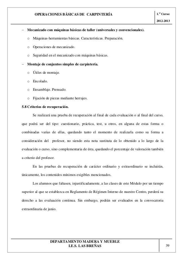 Operaciones b siocas de carpinter a for Manual operaciones basicas de cocina