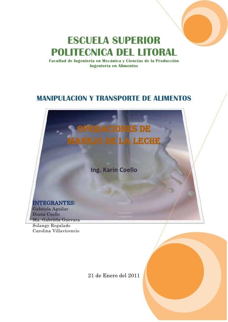 ESCUELA SUPERIORPOLITECNICA DEL LITORALFacultad de Ingeniería en Mecánica y Ciencias de la ProducciónIngeniería en Aliment...