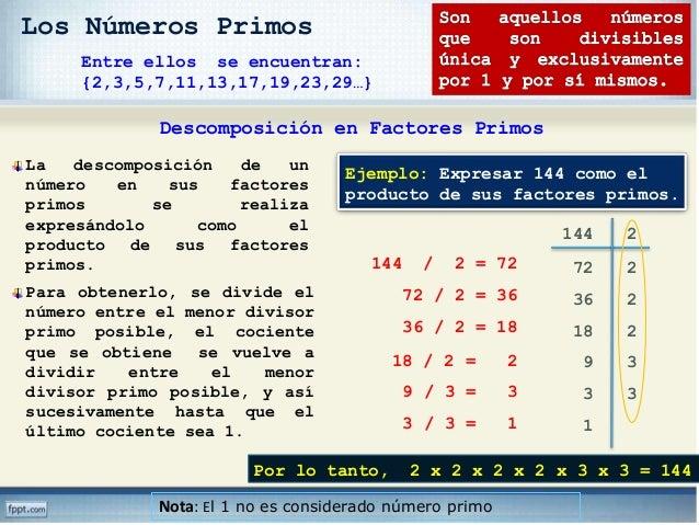 3132834d4 Los Números Primos Descomposición en Factores Primos  43.