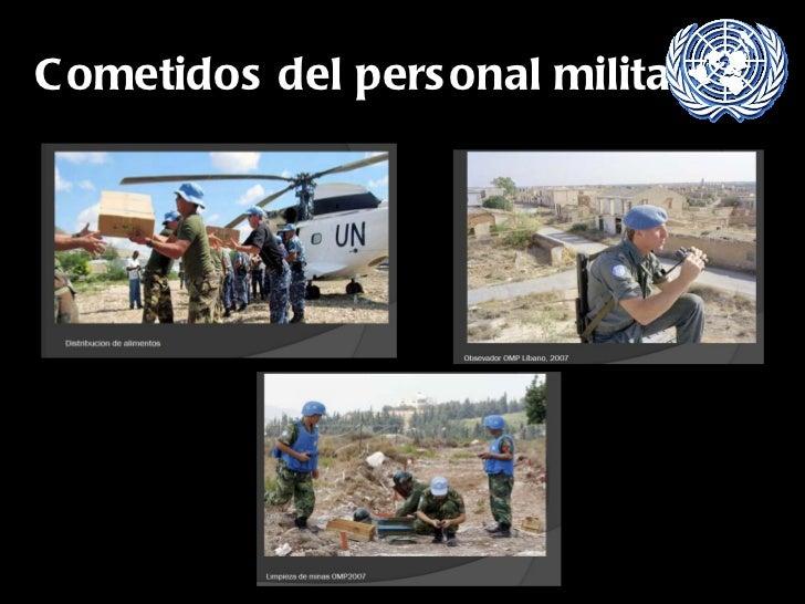 Cometidos del personal militar