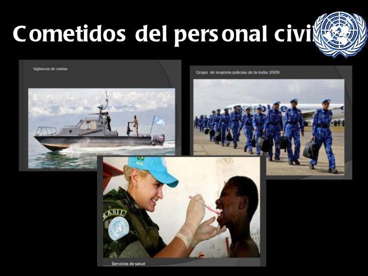 Cometidos del personal civil