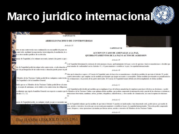 Marco juridico internacional