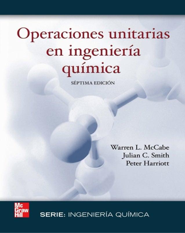 libro operaciones unitarias en ingenieria quimica mccabe