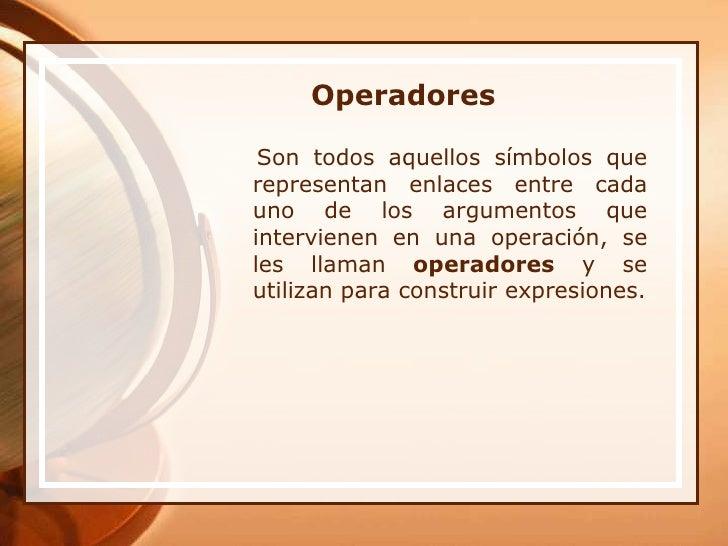 Operadores Slide 2
