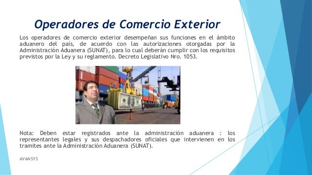 Operadores de comercio exterior for Comercio exterior que es