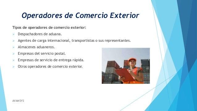 Operadores de comercio exterior for Que es el comercio interior