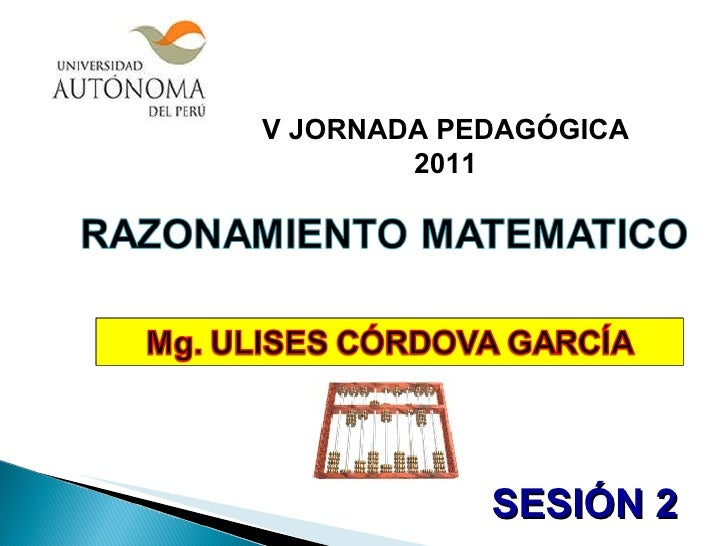 V JORNADA PEDAGÓGICA 2011 SESIÓN 2