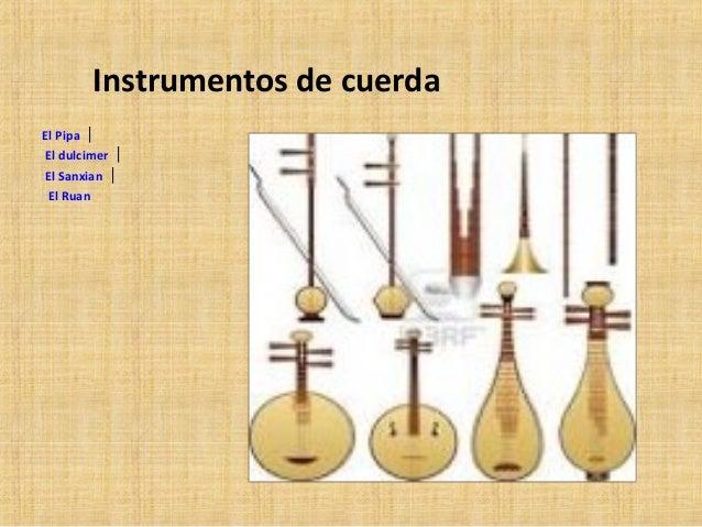 Opera e instrumentos chinos - Tipos de cuerdas ...