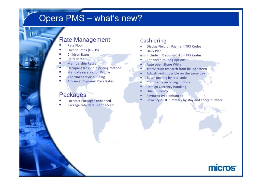 Opera Hotel V5 New Features Pms