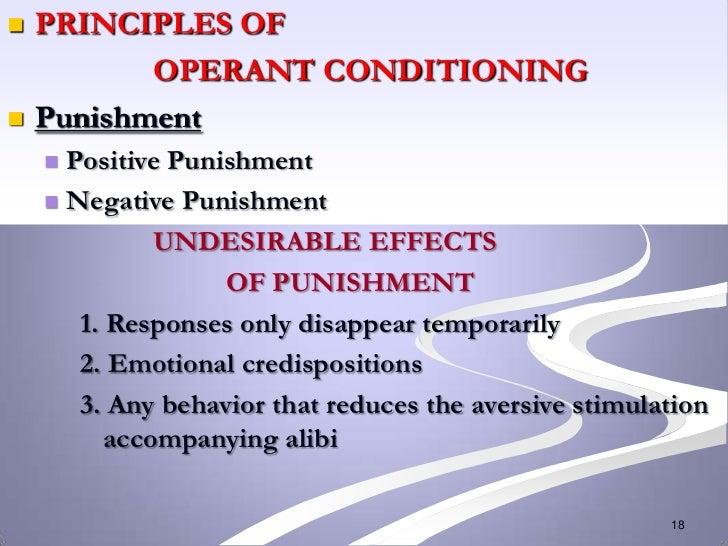    PRINCIPLES OF           OPERANT CONDITIONING   Punishment     Positive Punishment     Negative Punishment          ...
