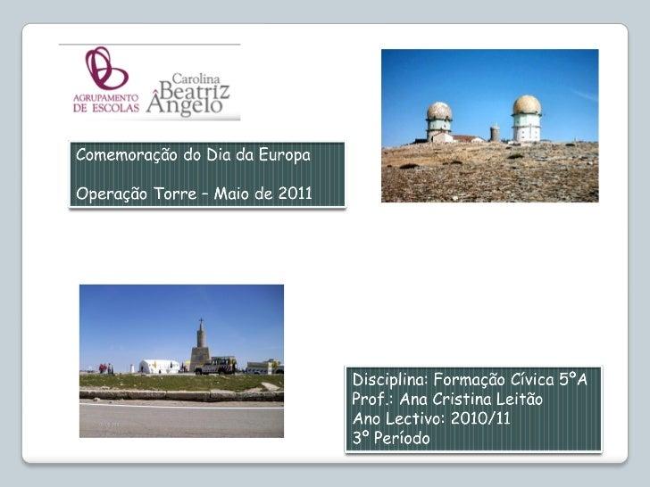 Operação torre   5ºa 2010-2011