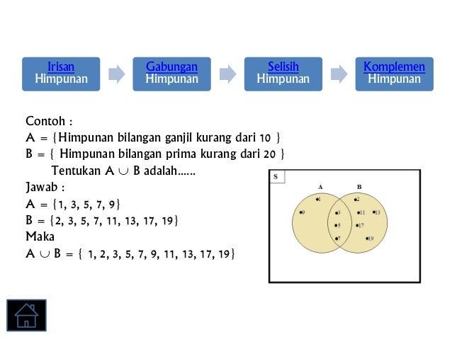 Diagram venn irisan gabungan komplemen example electrical circuit operasi himpunan rh slideshare net printable venn diagram venn diagram with lines ccuart Gallery