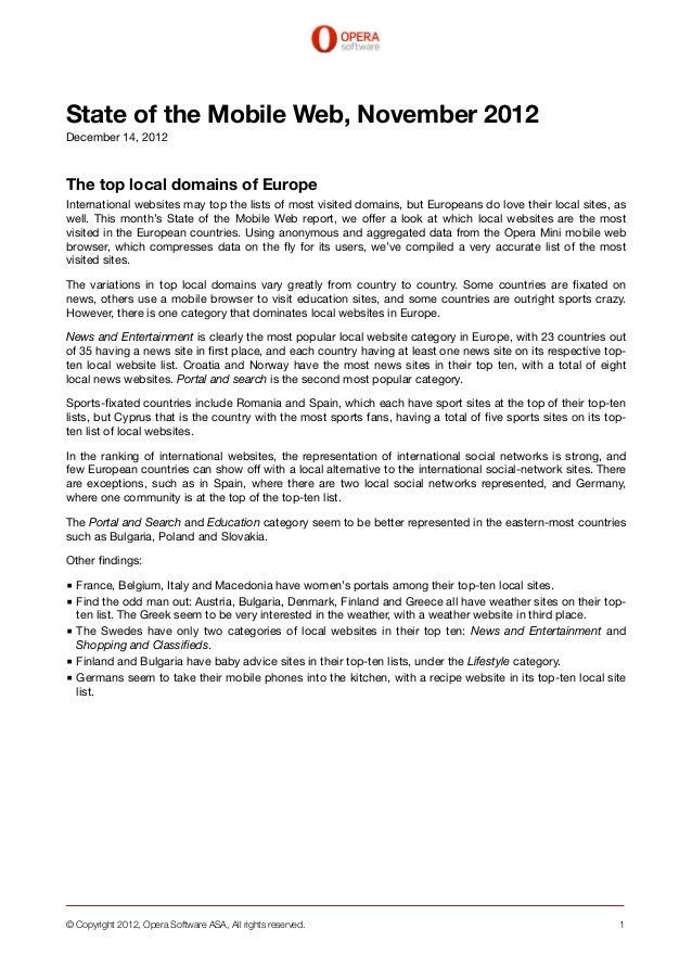 State of the Mobile Web, November 2012December 14, 2012The top local domains of EuropeInternational websites may top the l...