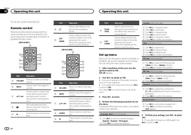operating manual  deh 6450bt