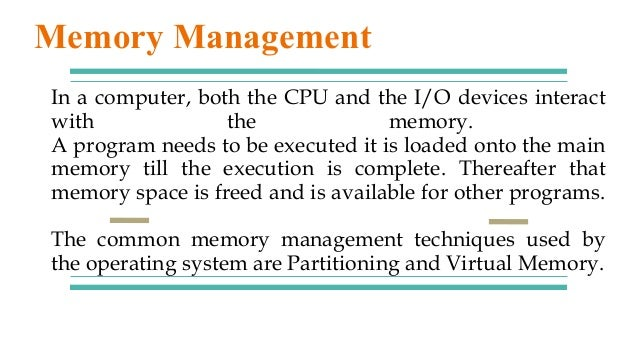 In a computer, both the CPU and the I/O devices interact with the memory. A program needs to be executed it is loaded onto...