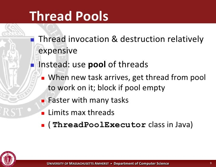 Operating systems concurrency for Thread pool design pattern java
