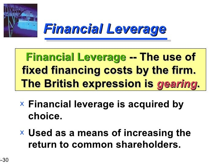 financial leverage thesis This study examines the impact of corporate governance and financial leverage on the value of american firms this study also seeks to extend the findings of gill and mathur (2011a).