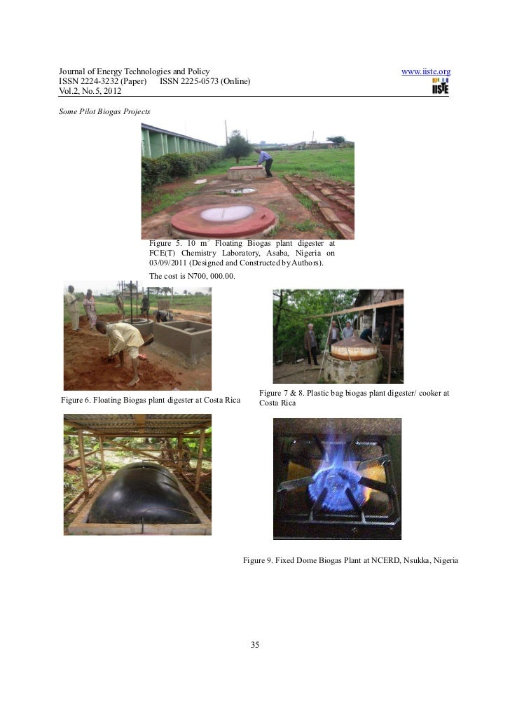 Operating and financing a family biogas plant