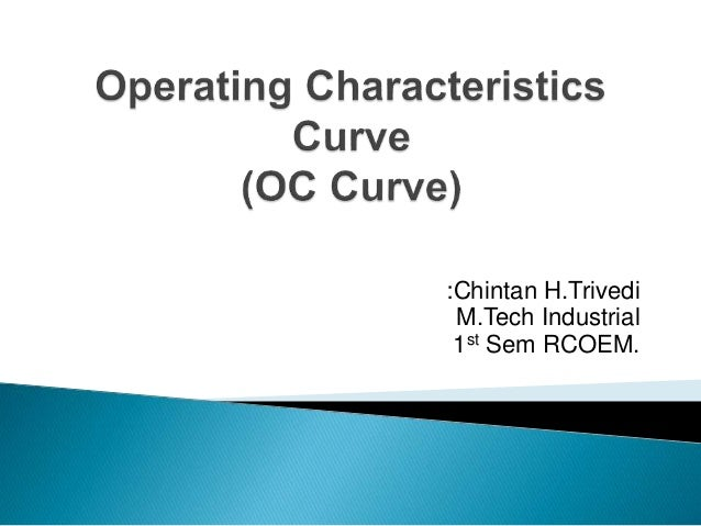 oc curves or operating characteristic curves education essay Short question and answers  it is the education which is formed  the triple point is merely the point of intersection of sublimation and vapourisation curves.