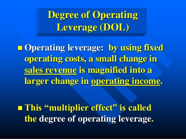 importance of operating leverage