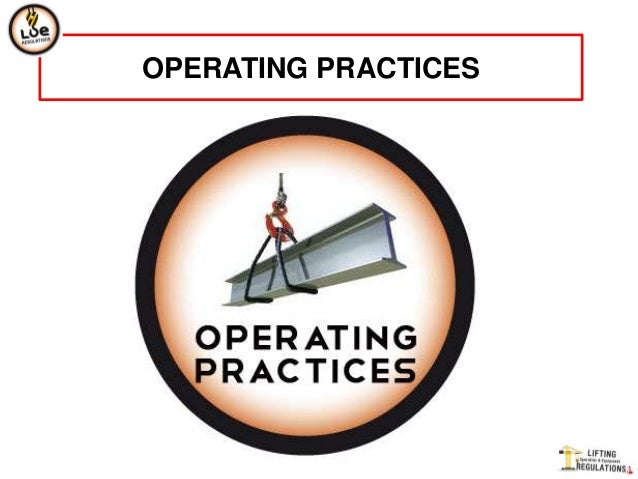 OPERATING PRACTICES