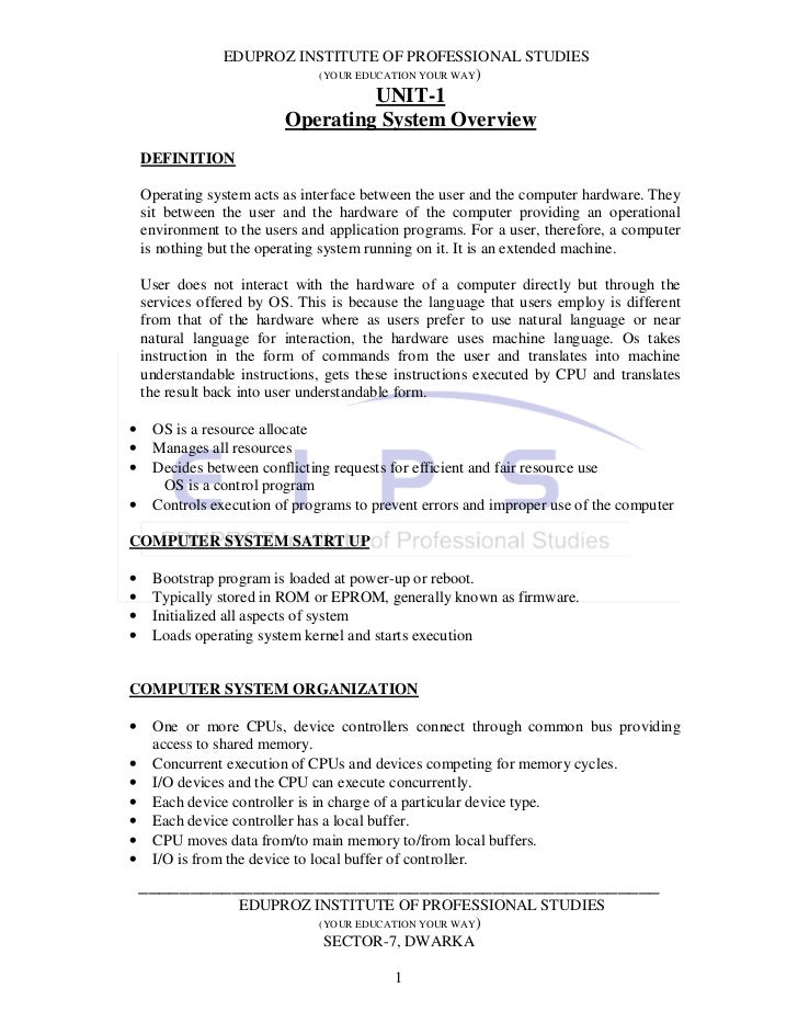 EDUPROZ INSTITUTE OF PROFESSIONAL STUDIES                          (YOUR EDUCATION YOUR WAY)                              ...