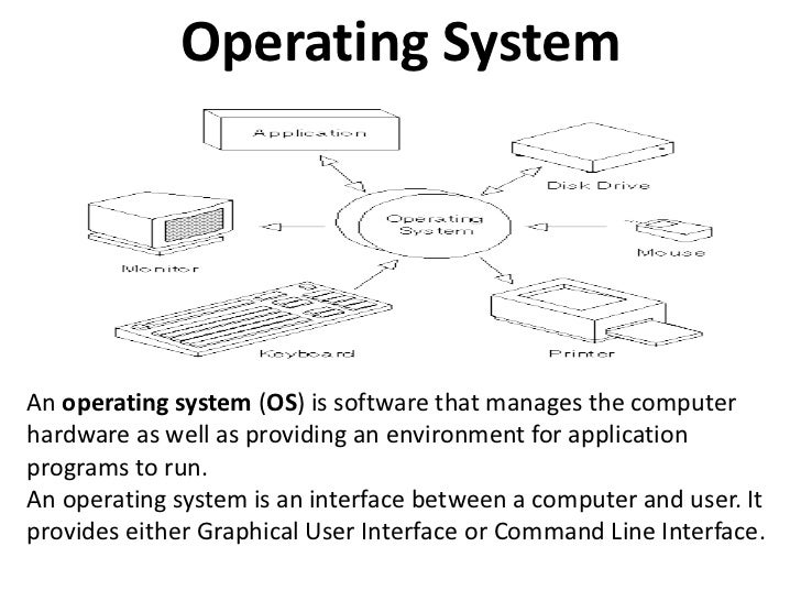 Operating System<br />An operating system (OS) is software that manages the computer hardware as well as providing an envi...