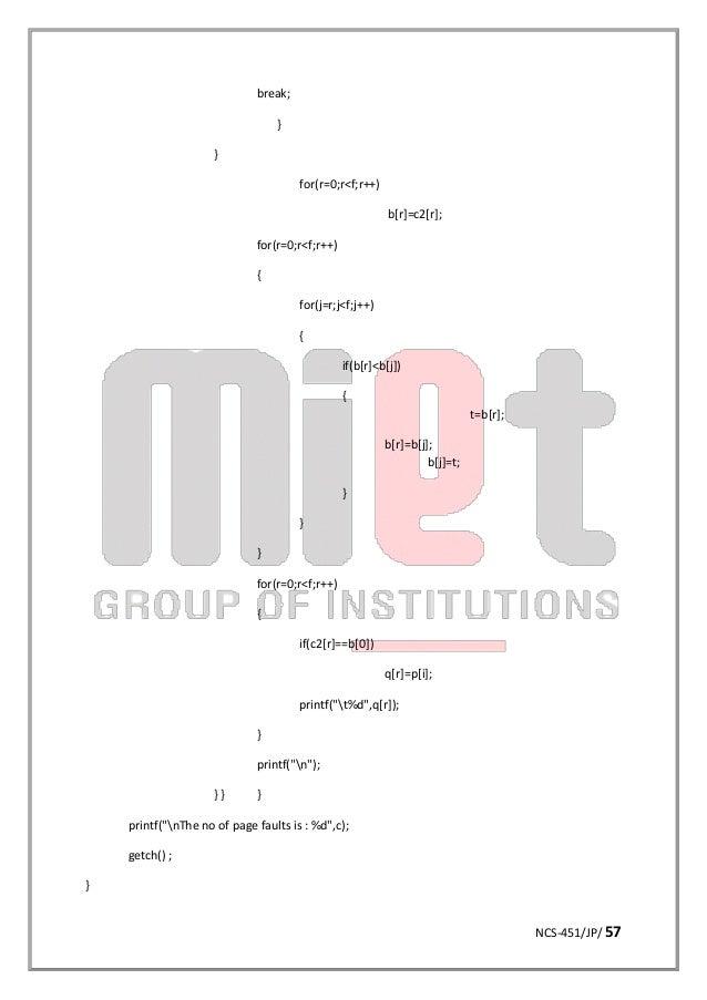 Operating system lab manual