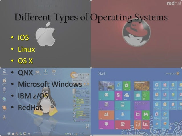 Different types of operating system online presentation.