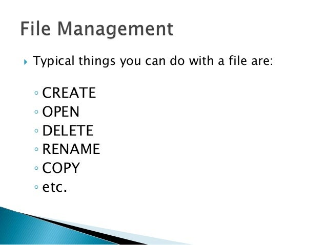 how to create a file management system