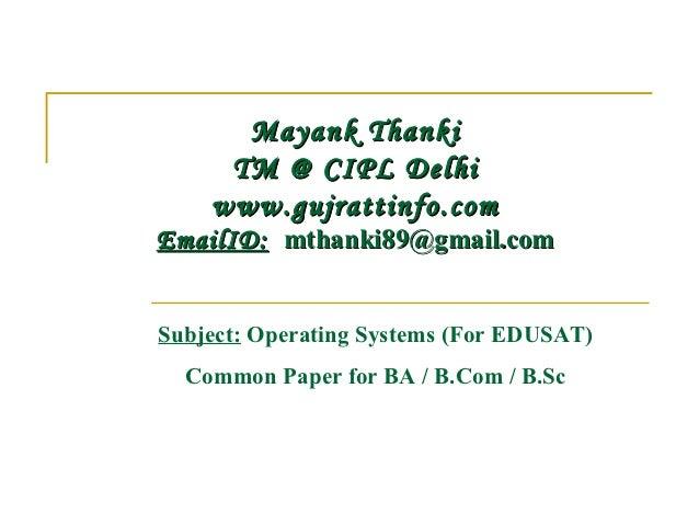 Paper presentation operating system