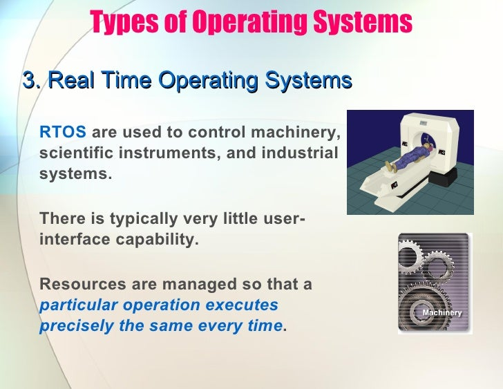 real time operarting system A real-time operating system (rtos) is an operating system (os) intended to  serve real-time applications that process data as it comes in, typically without  buffer.