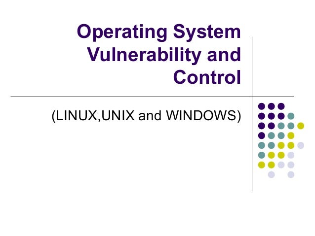 Operating System    Vulnerability and             Control(LINUX,UNIX and WINDOWS)