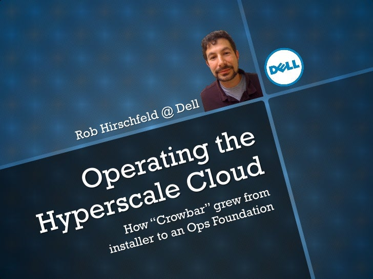  Into cloud since 1999 Principal Cloud Solution  Architect at Dell Based in DCS, the  hyperscale solutions  group Lead...