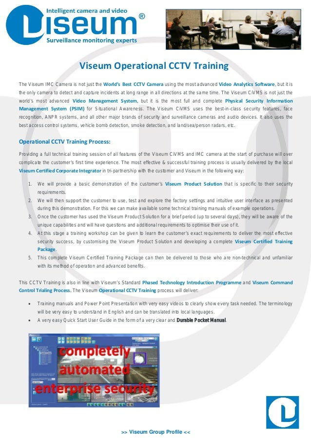 Operational cctv training viseum group profile viseum operational cctv training the viseum imc camera is publicscrutiny Images