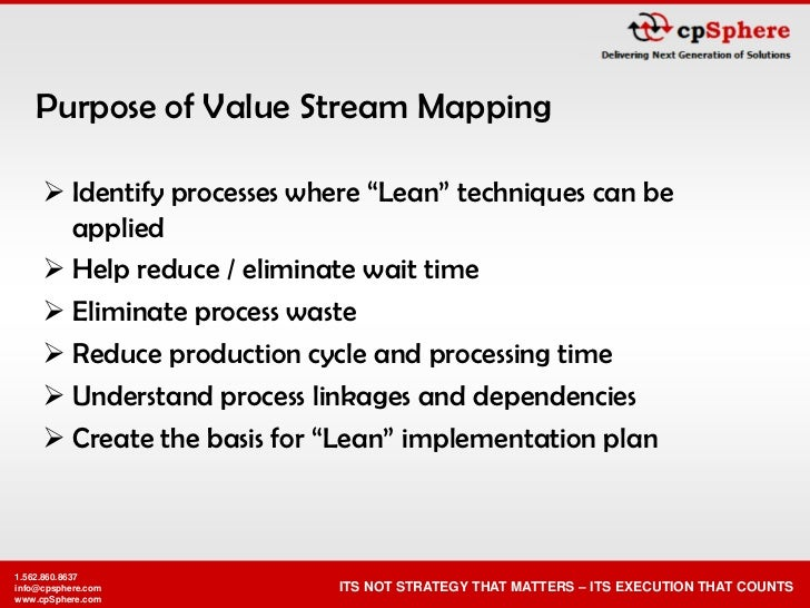 """Purpose of Value Stream Mapping        Identify processes where """"Lean"""" techniques can be        applied       Help reduc..."""