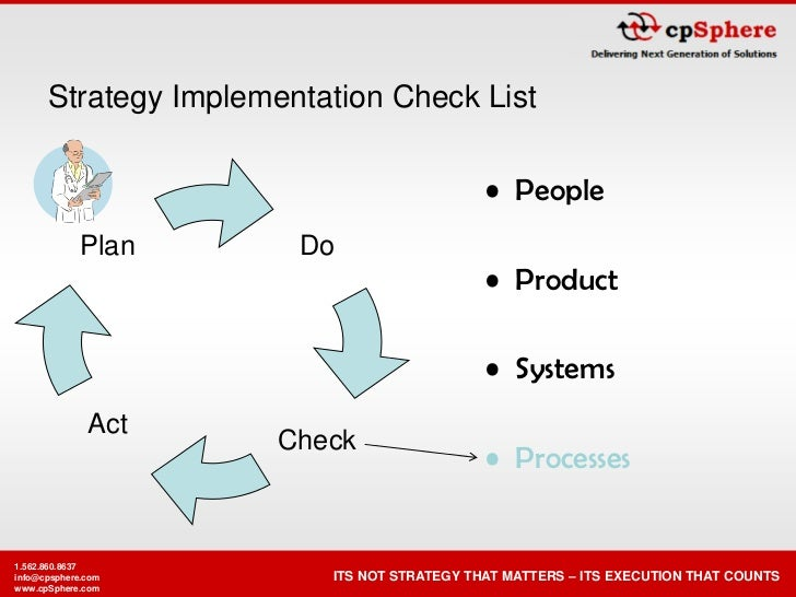 Strategy Implementation Check List                                               • People                        Do       ...