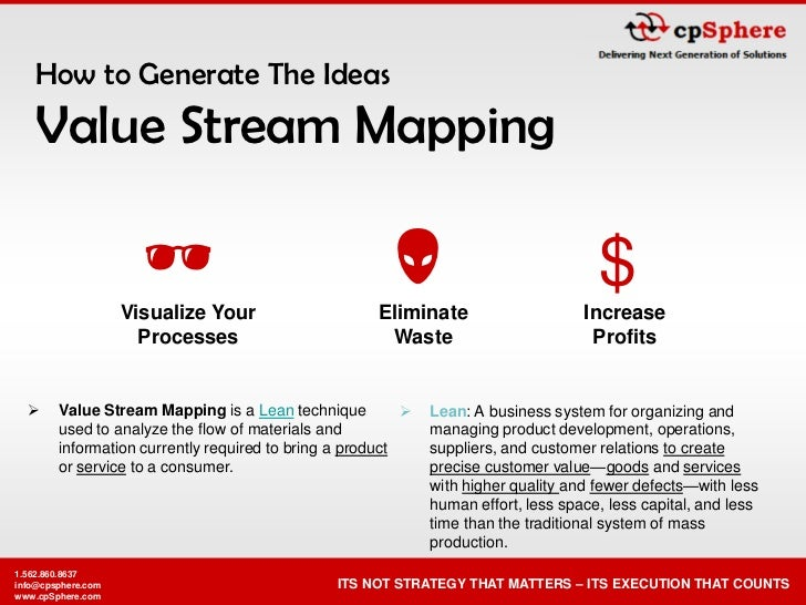 How to Generate The Ideas    Value Stream Mapping                                                                       ...
