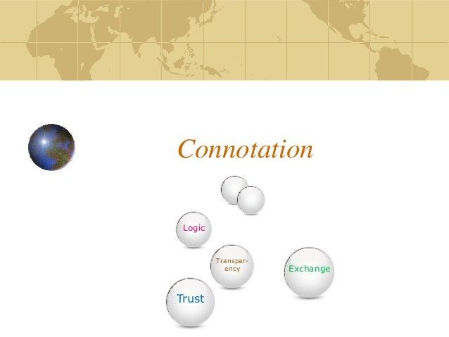 Connotation Transpar- ency Logic Trust Exchange