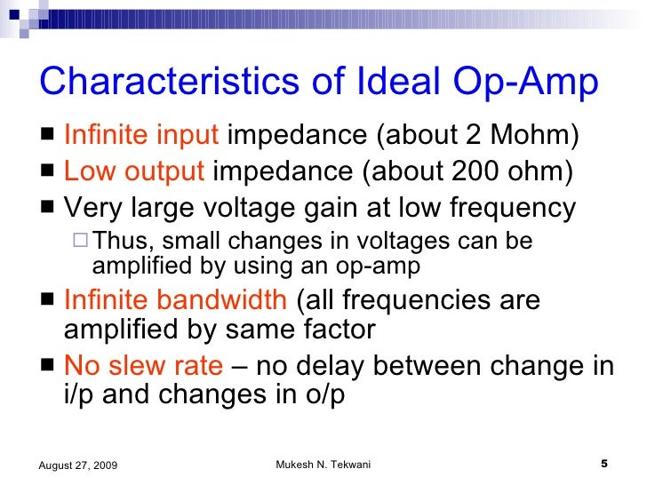 operational amplifier part 1