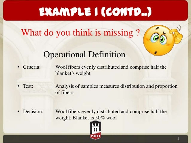 Lean Operational Definitions