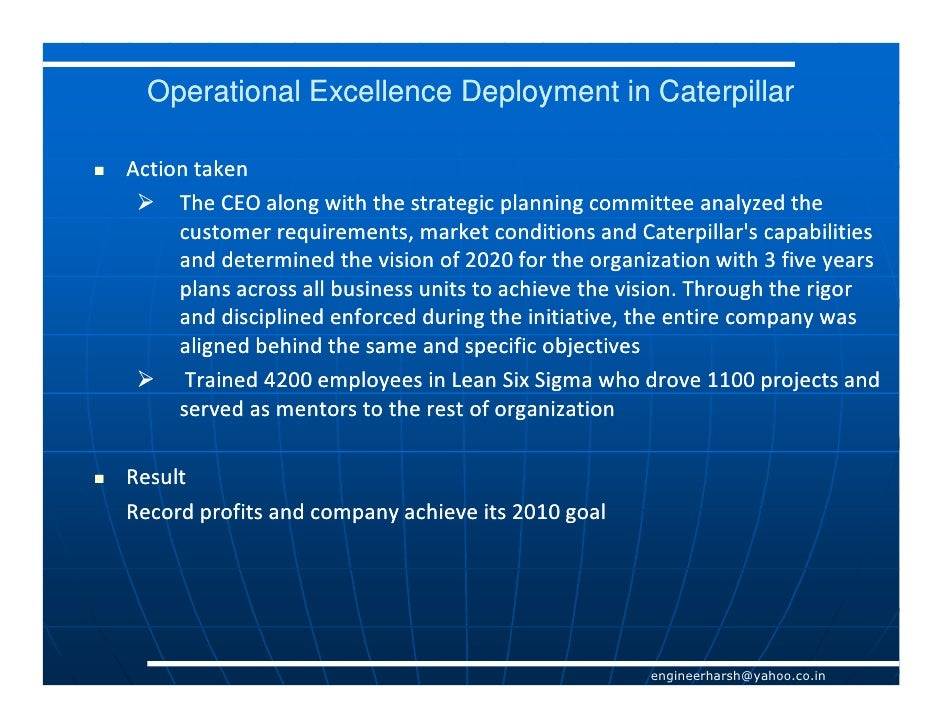 operational excellence Operational excellence consulting - this video presents a definition of operational excellence as one of three distinct strategies or value propositions an o.