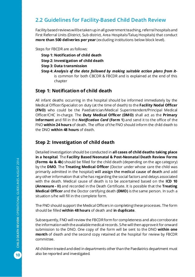 Operational guidelines child_death_review