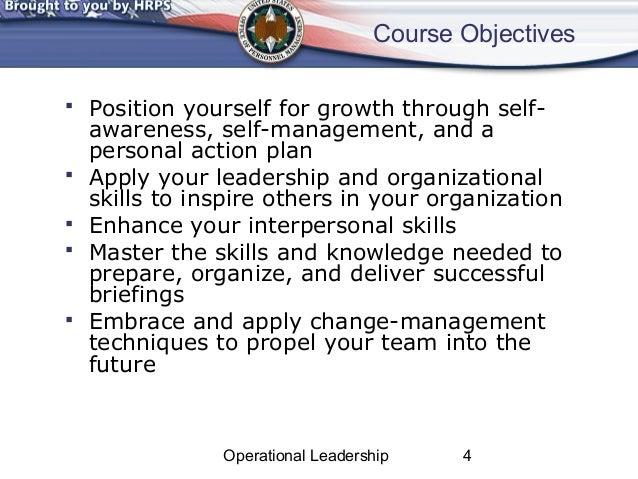 Operational Leadership Power Point Sample